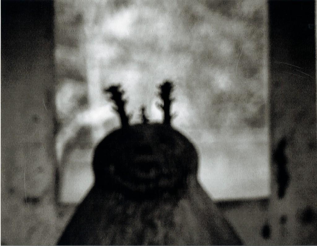 Ein dem Gott Legba geweihter Schrein vor dem Eingang eines Hauses in Abomey; er beschützt es vor Krankheiten, unreinen Geistern und dem Tod. Legba ist das Bindeglied zwischen Voodoo-Göttern und Menschen. Nichts geschieht ohne seine Einwilligung, und oft ist er launisch und grausam.